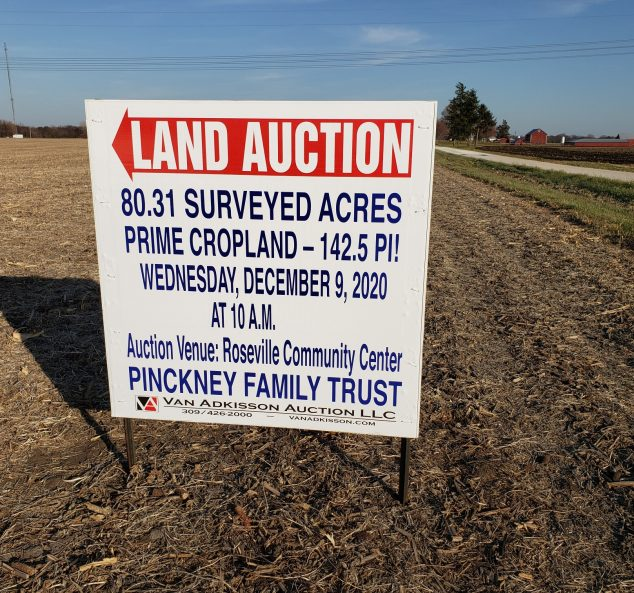 Land Auction – 80.31 Surveyed Acres – Prime Farmland in Galesburg Township – Knox County, IL